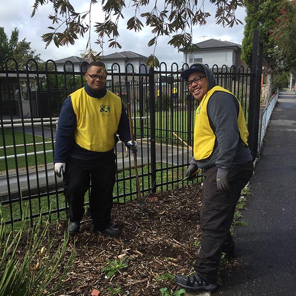 Volunteering in the garden